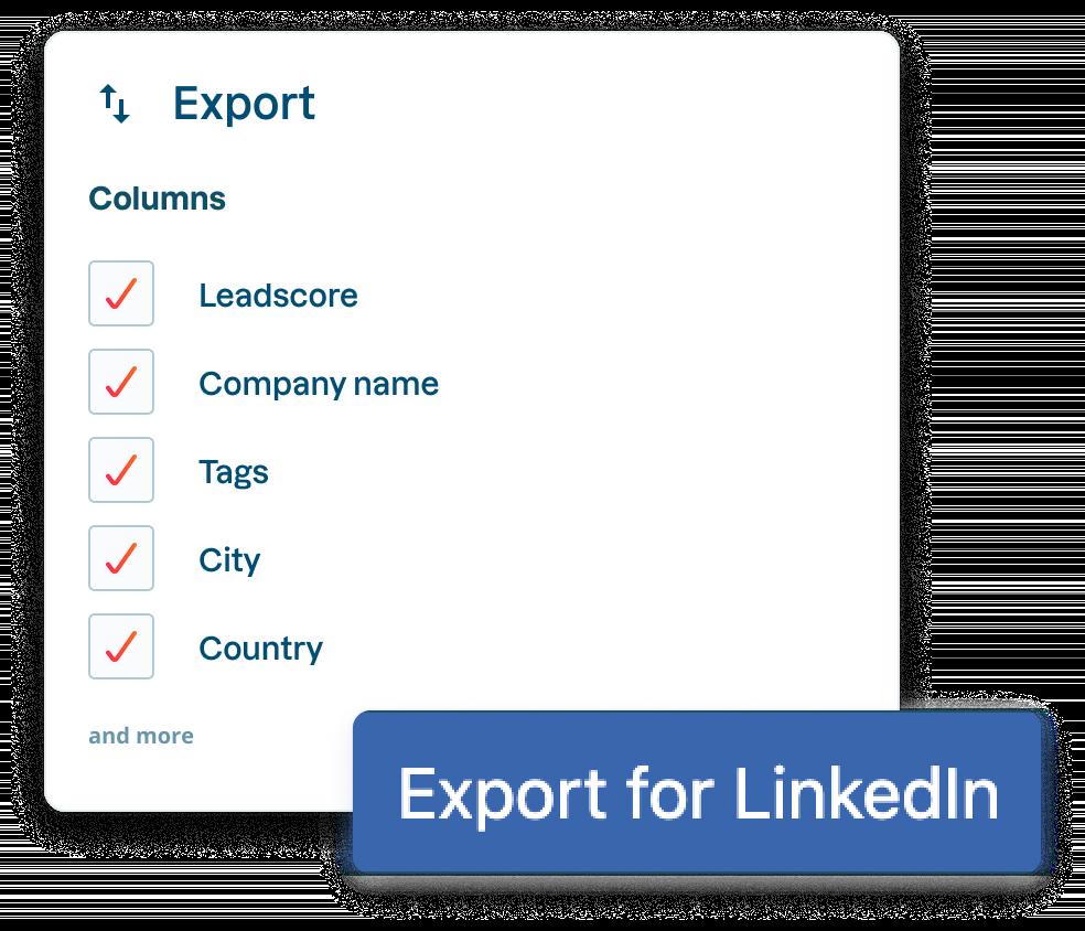 Linkedin-export