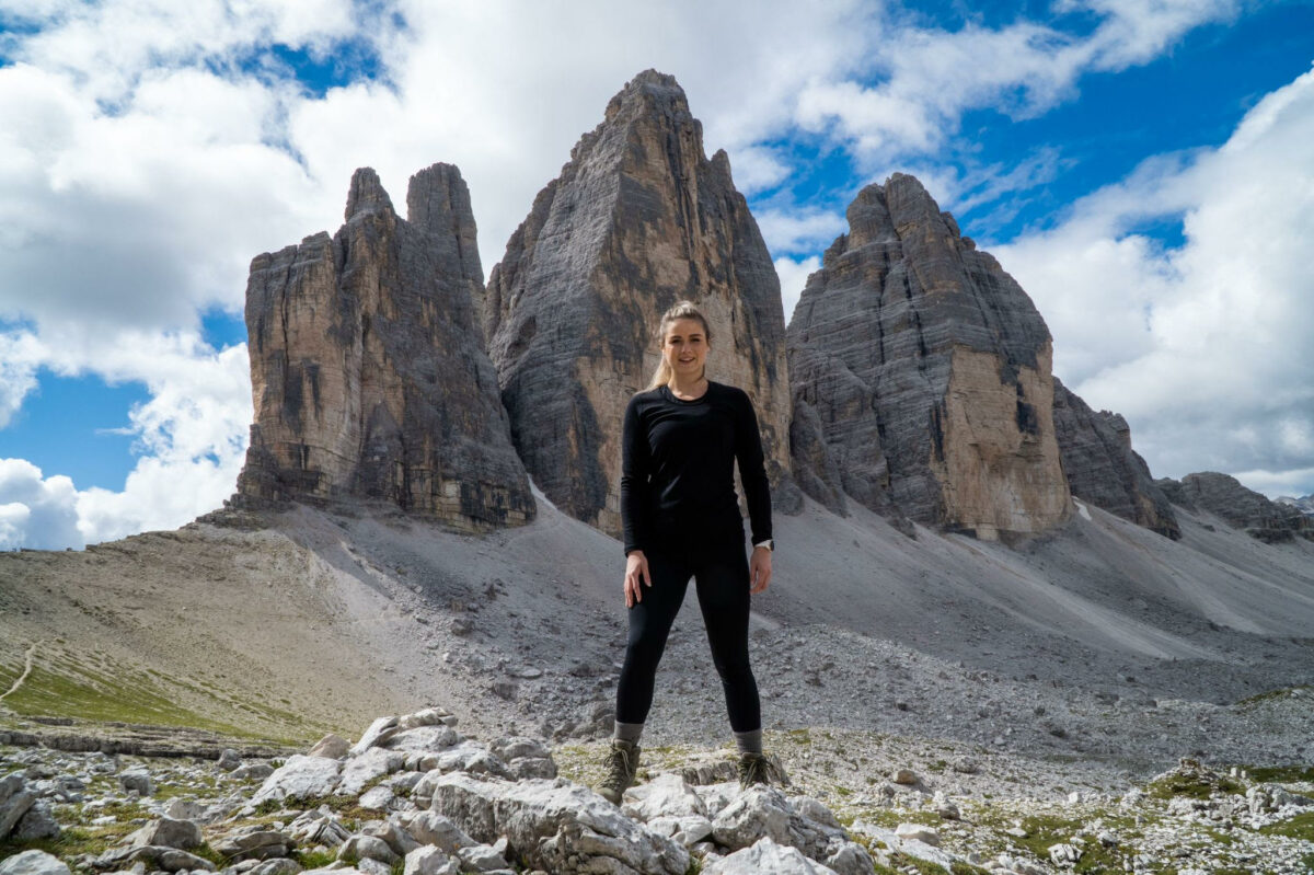 Barbara den Toom, Leadinfo customer success manager hiking in the dolomites