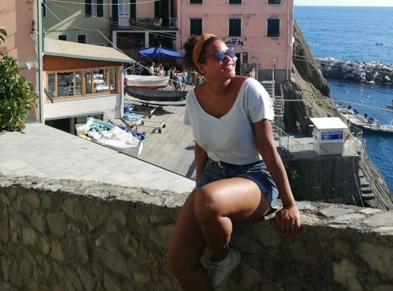 Millicent enjoying the Italian sun